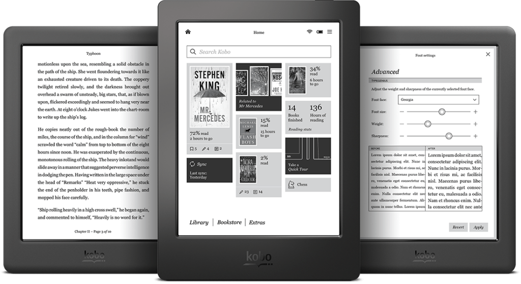 kobos ereader screenshots